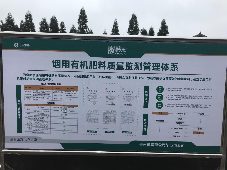 中国烟叶公司、国家局科技司领导一行人参观考察时科贵州炭基肥生产基地